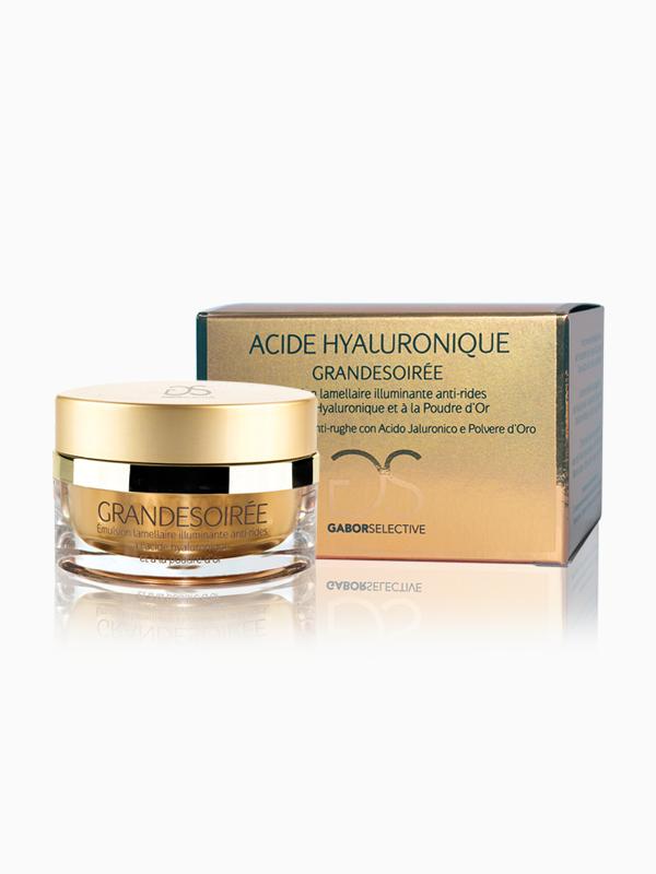 GRANDESOIRÉE - Trattamento intensivo illuminante anti-rughe con acido ialuronico e polvere d'oro
